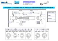 Transmission de précision coulissante